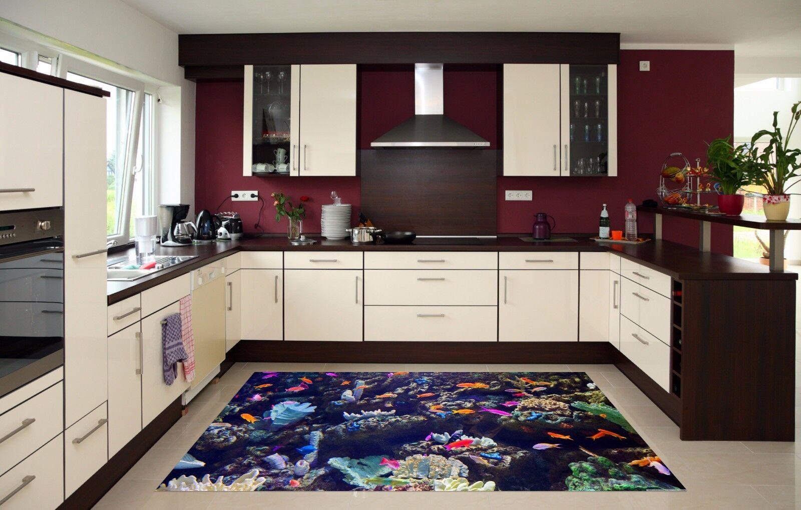 3D Farbeed Fish 9 Kitchen Mat Floor Murals Wall Print Wall AJ WALLPAPER AU Carly