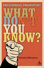 What Don't You Know?: Philosophical Provocations by Michael C. LaBossiere (Paperback, 2008)