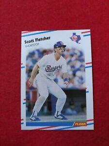 BASEBALL-TRADING-CARD-FLEER-1988-466-SCOTT-FLETCHER-SS63