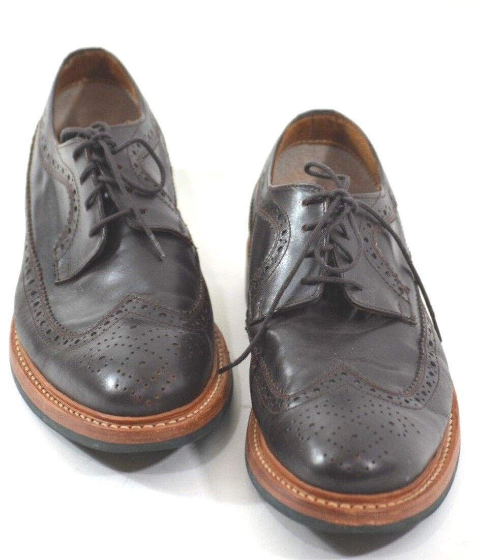 Brown Leather Brogues Hardy Amies Grained Goodyear Welted Size 9