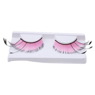1Pair Women Fancy Soft Long Feather False Eyelashes Eye Lashes Makeup Party Club