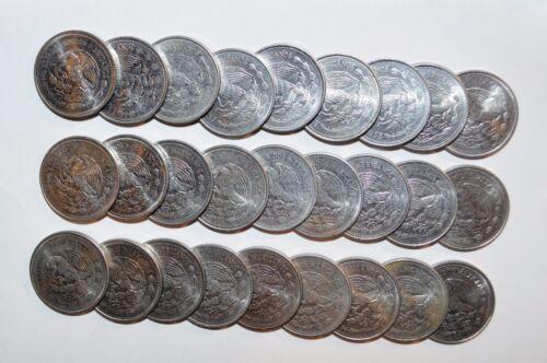 MEXICO lot 1 PESO pesos un vintage A world foreign Mexican 27 COINS