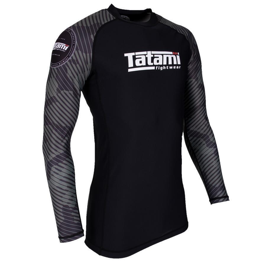 Tatami Renegade Green Mens BJJ Rash Guard Long Sleeve Jiu Jitsu Compression MMA