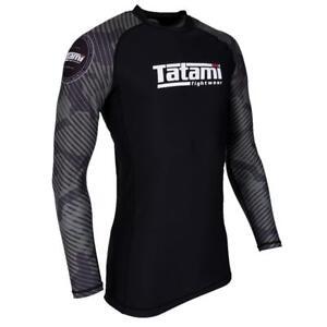 Tatami Mens Samurai Panda BJJ Rash Guard Long Sleeve Jiu Jitsu Compression MMA