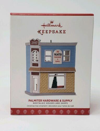 HALLMARK 2017 PALMITER HARDWARE AND SUPPLY SHOP NOSTALGIC HOUSES #34 NIB MIB