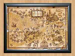 Details about Harry Potter World Map Wall Home Decor Photo Poster Picture  Print A4 297x210mm