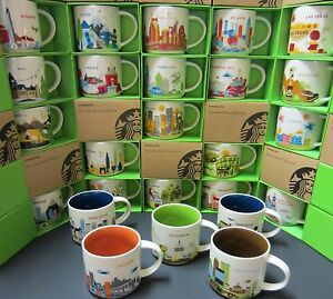 Details About Starbucks You Are Here Yah Retired City Mug You Pick Multiple Nib W Tag