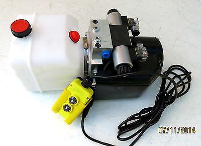 12 Volt Hydraulikpumpe Hydraulikaggregat Für Doppelwirkende Zylinder Durchsichtig In Sicht