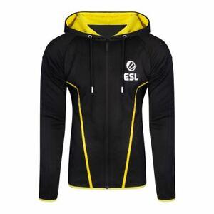 ESL Logo Teq Complet Longueur Fermeture à Glissière Capuche Mâle XXL Noir/Jaune