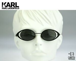 Karl-Lagerfeld-4136-05-Vintage-oval-sunglasses-90s-steampunk-sunglasses-NOS