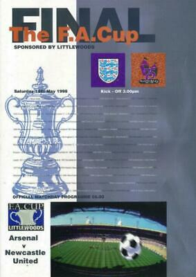 * 1998 FA CUP FINAL - ARSENAL v NEWCASTLE UNITED *   eBay