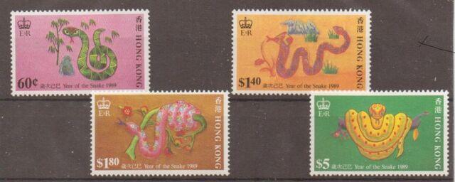 HONG KONG SG587/90 1998 YEAR OF THE SNAKE MNH