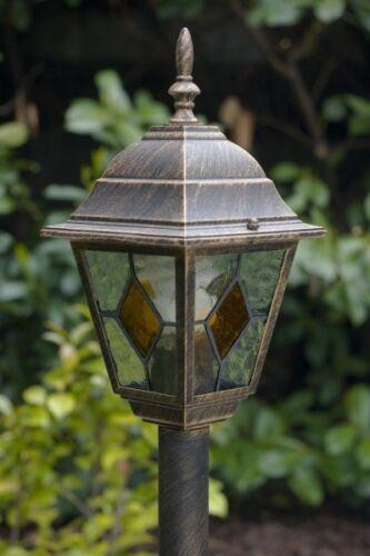 Außenlampe Außenleuchte Sockelleuchte Gartenlampe Pollerleuchte Wegeleuchte Alu