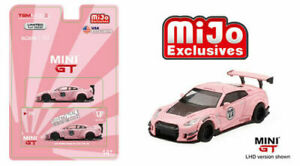 Mini GT Nissan GT-R R35 Type 1 LBW Liberty Walk Candy Red MGT00077 1//64