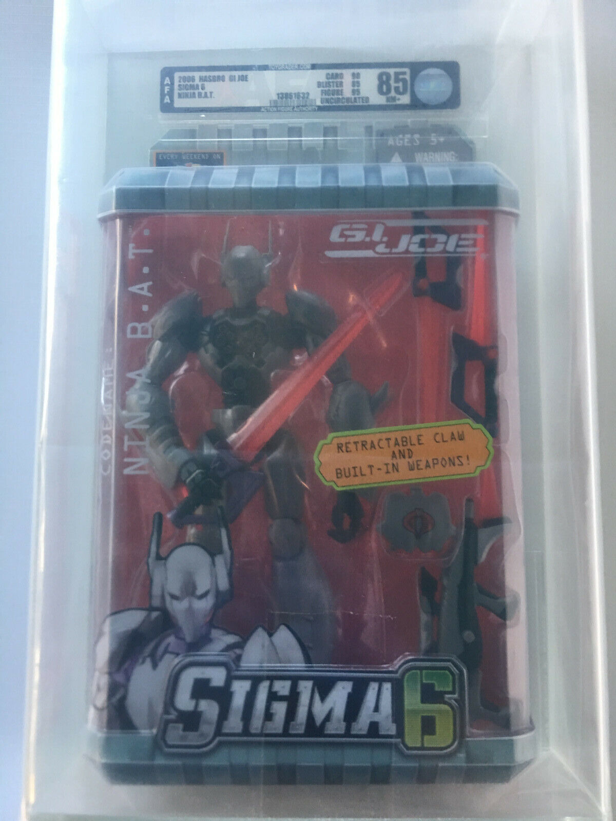 2005 Gi Joe Sigma seis 6 Ninja Bat U85 Universal