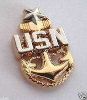 CHIEF PETTY OFFICER SENIOR SCPO E-8 Military Veteran US NAVY Hat Pin P19034 EE
