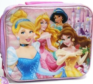 Disney Princess Insulated Lunch Bag Handbag Ariel Belle Merida Cinderella Aurora