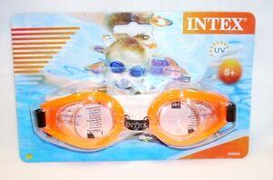 61b6e130ff5a Intex Kids 8+ Orange UV Swimming Swim Play Goggles Camping Lake Pool ...
