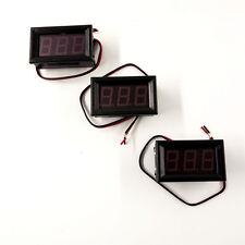 3pcs DC 0-30v Blue LED 3digital Display Voltage Meter Voltmeter Panel Motorcycle