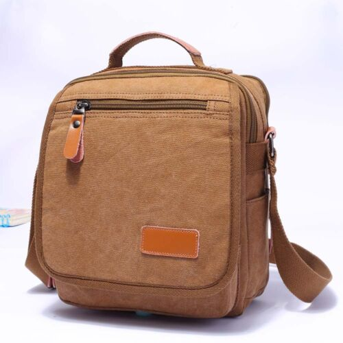 Men Canvas Satchel Military Shoulder Messenger Bag