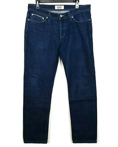 Naked-amp-Famous-Men-039-s-Blue-Indigo-Selvedge-Jeans-Button-Fly-Mens-Size-34-x32