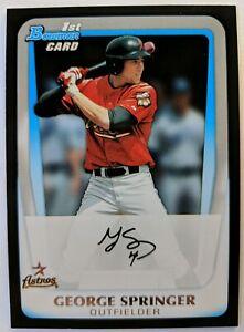 2011-11-Bowman-George-Springer-Rookie-RC-BDPP81-Houston-Astros