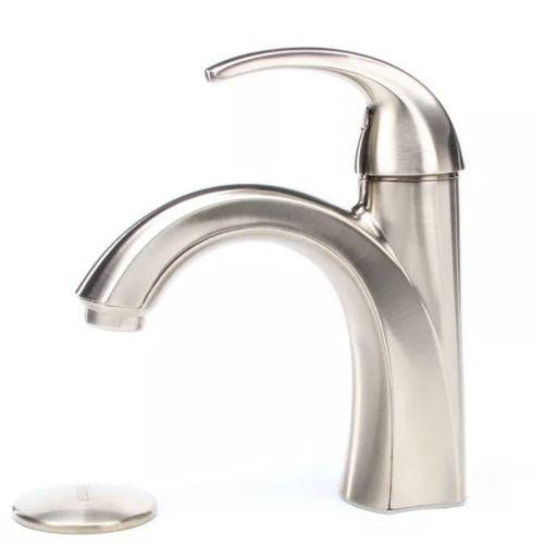 Pfister F 042 Slkk Brushed Nickel Selia Single Hole Bathroom Sink