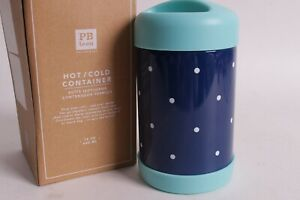 Nwt Pottery Barn Pb Teen Tall Hot Cold Container Dot Navy