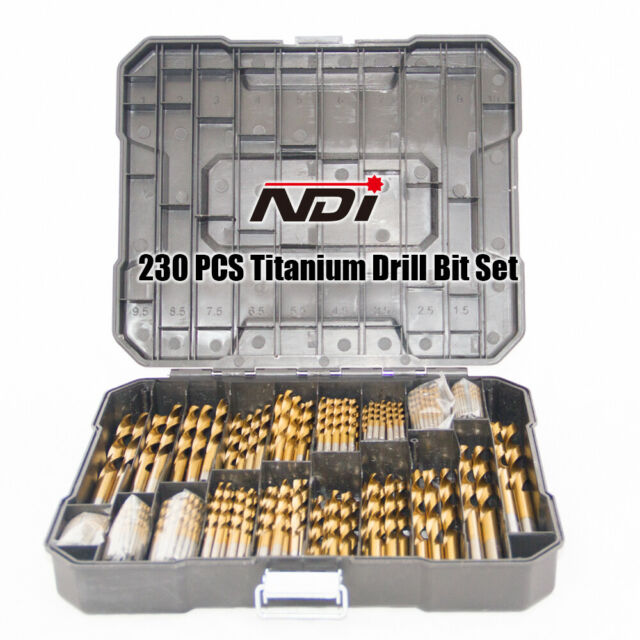 NEW 230PC METRIC TITANIUM DRILL BIT SET WITH CARRY CASE ND-1009