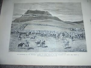 Boer-War-negotiations-assembly-of-Boers-Laing-039-s-Nek-1881-print-ref-AN
