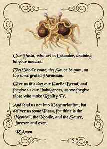 FSM-Lord-039-s-Prayer-5x7-Pastafarian-Flying-Spaghetti-Monster-Agnostic-Atheist-Soul