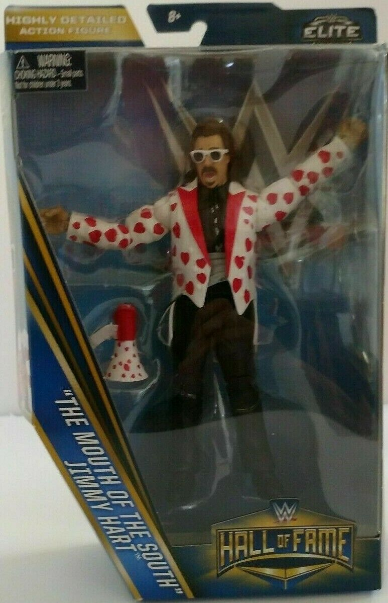 WWE MATTEL ELITE HALL OF FAME JIMMY HART THE MOUTH OF THE SOUTH BRAND NEW