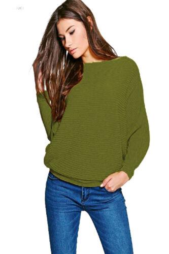 New Womens Ladies Girls Oversized Knitt Loose Batwing Jumper Top Shirt