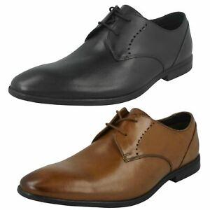 Detalles de Hombre Clarks de Cuero Cordón Arriba Elegante Trabajo Ocasiones Formales Zapatos