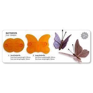JEM Butterfly Cutter Set of 2 Gum Paste Cutters #106M003
