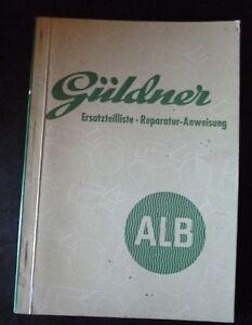 Gueldner-Schlepper-ALB-Ersatzteilliste-Rep-anleitung