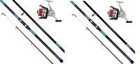 2 X Oakwood 14 Ft Beachcaster Rods Beach Caster Surf Rods & Reels Sea Fishing