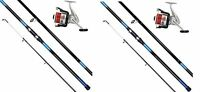 2 X Oakwood 13 Ft Beachcaster Rods Beach Caster Surf Rods & Reels Sea Fishing