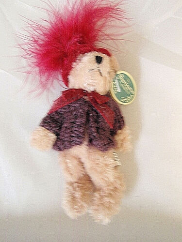 Bearington bear Red Hat 'Lady Scarlet'  loop for hanging 5 1/2inches NWT FS