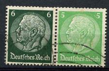 Germany Third Reich 1933, 6pf, 5pf Hindenburg Used Pair #A65877
