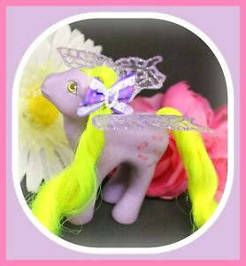 ❤️My Little Pony MLP G1 Vtg FLUTTER PONY Yum Yum Party Gift Pack Purple WINGS❤️