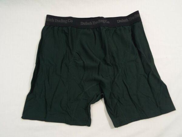 1 Coppia Duluth Trading Company Buck Nuda Boxer Slip Verde Cacciatore 76015