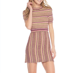 NWT Women's Free People In To You Printed Mini Dress Fit and Flare Size XS