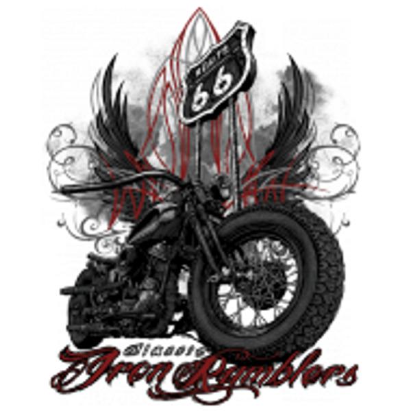 Kapuzenpullover oliv HD V Twin Biker Chopper&Oldschoolmotiv Modell Iron Rambler