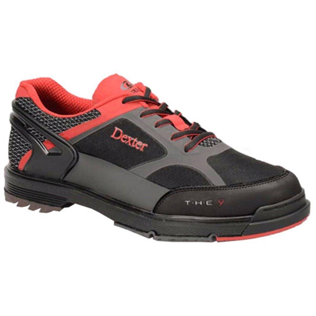 Dexter el 9HT Negro gris Rojo Ancho Hombre Zapatos de Bolos