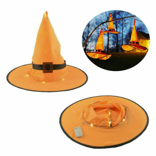 Halloween Decorations Witch Hats Caps String Lights Outdoor Cosplay Party US RR