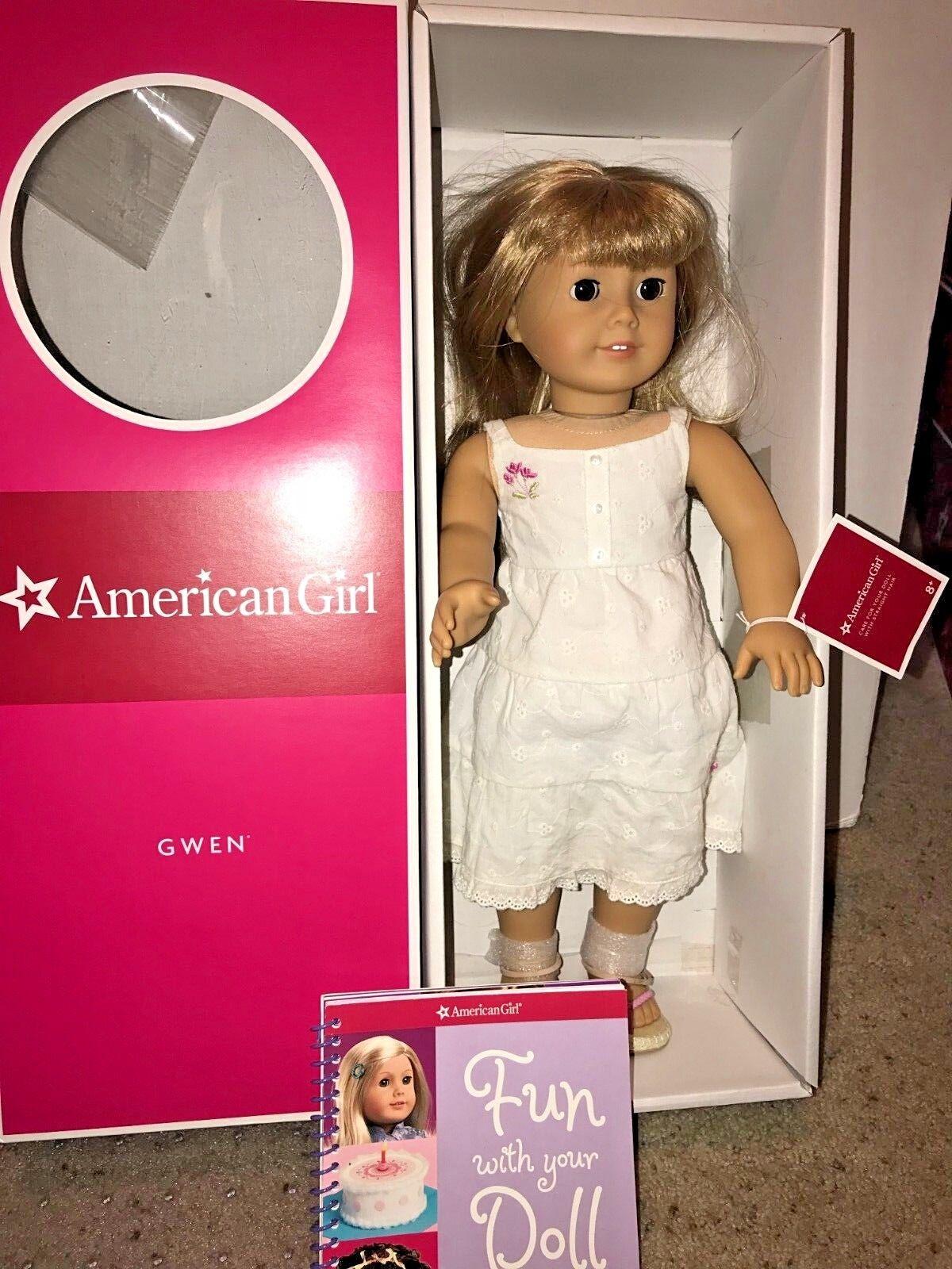 Jubilado American Girl Doll Gwen Thompson en Caja Original Chrissa's Friend