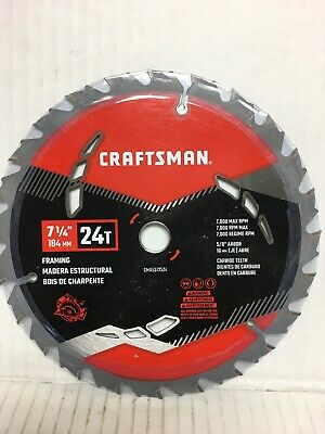 "4 NEW CRAFTSMAN 7-1//4/"" 24T THIN KERF CIRCULAR SAW BLADES 9-32280 32280"