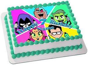 TEEN TITANS Edible CAKE TOPPER PARTY IMAGE FROSTING SHEET