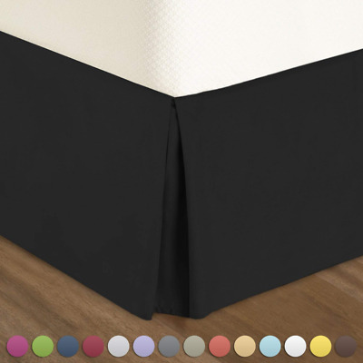 Black Bed Skirt King Size.Pleated Bed Skirt King Size Black Luxury Double Brushed Microfiber Dust Ruffle 604697957908 Ebay